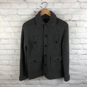 Banana Republic Gray Button Up Wool Jacket sz S